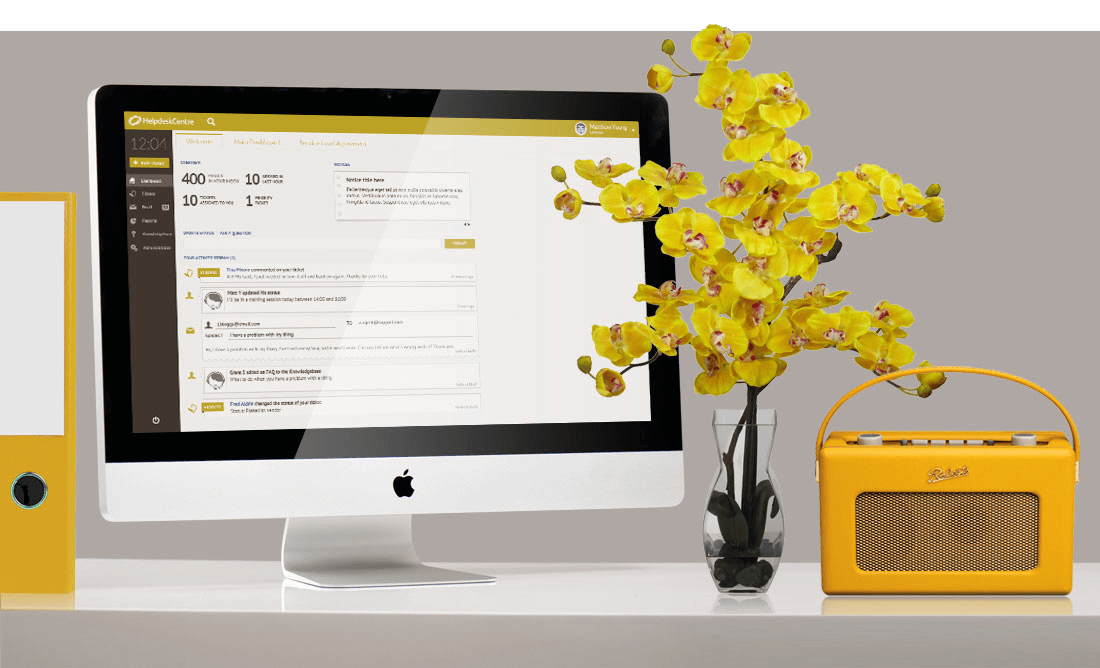 Issucentre branded colour yellow