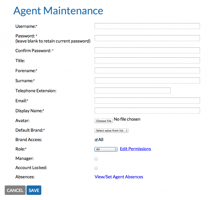 IssueCentre Agent Maintenance